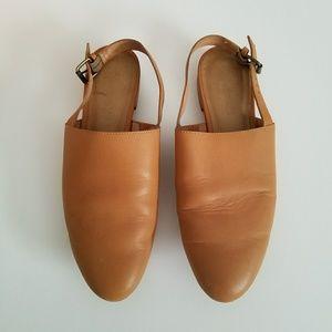 Madewell Callie Slipper Flat in leather